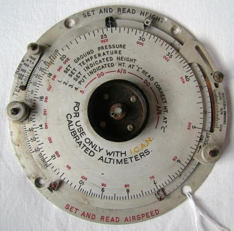 RAF Height & Airspeed Computor, MK.IIA
