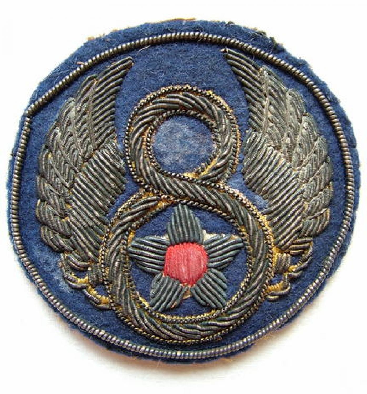 U.S.A.A.F. 8th AAF Bullion Patch