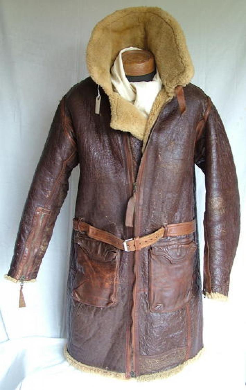 R.A.F. Irvin Flying Coat - Full Length