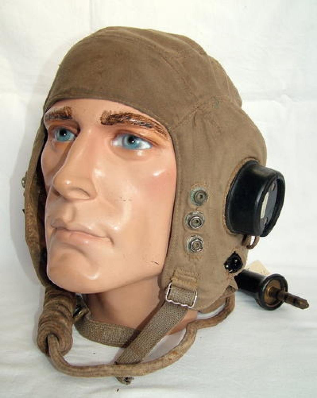 R.A.F. Type D Flying Helmet, Late Patt.