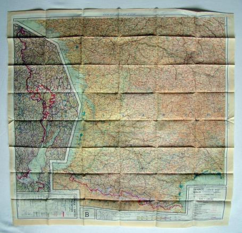 R..A.F. Escape & Evasion Map - European