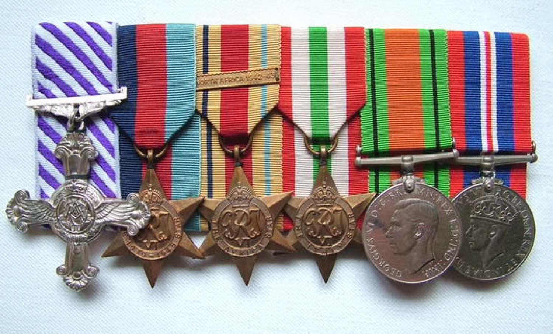 RAF Navigator D.F.C. Medal Grouping/Research