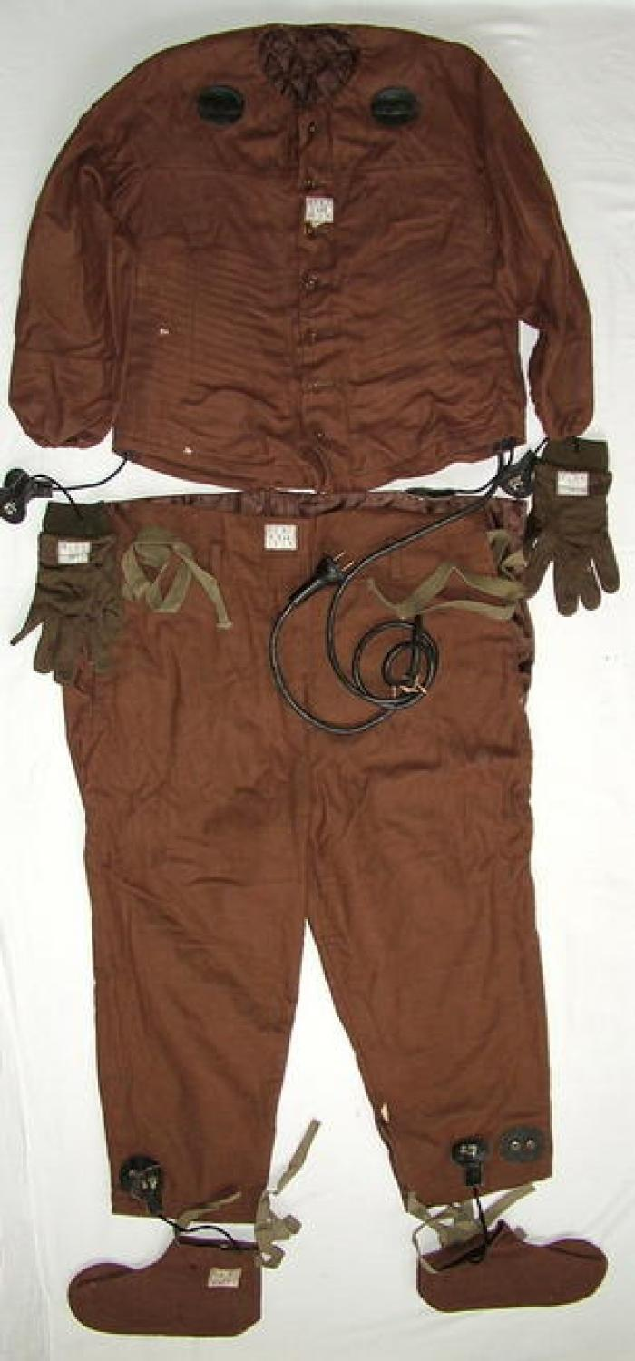 Japanese Naval Aviator's Heated Flying Suit