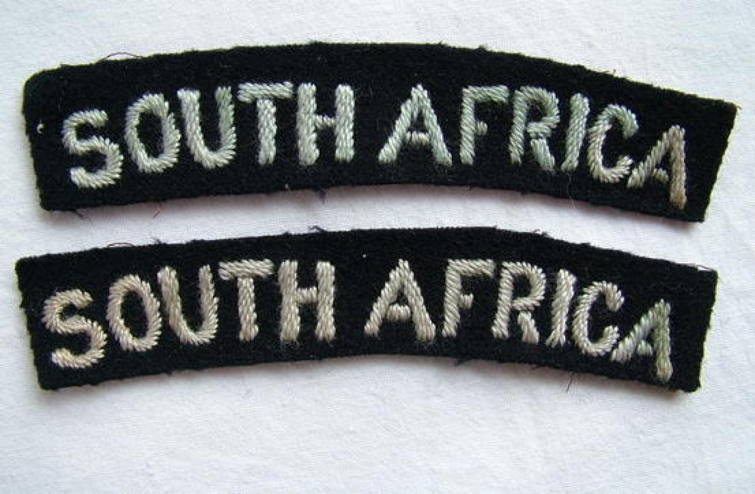 R.A.F. 'South Africa' Nationality Titles