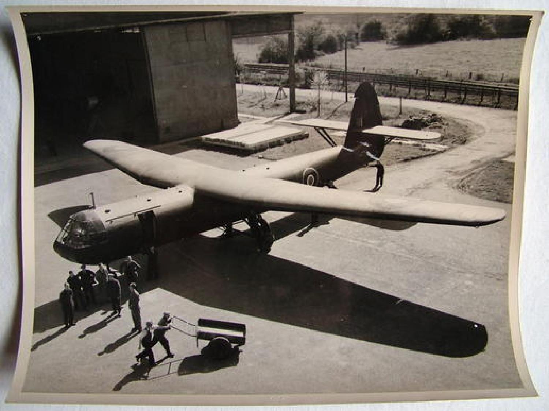 Official A.M. Photo - Assembling Horsa Glider