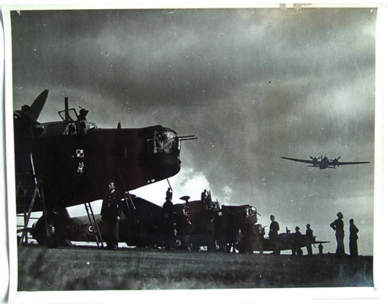 Official A.M. Photo - Polish Bomber Squadron