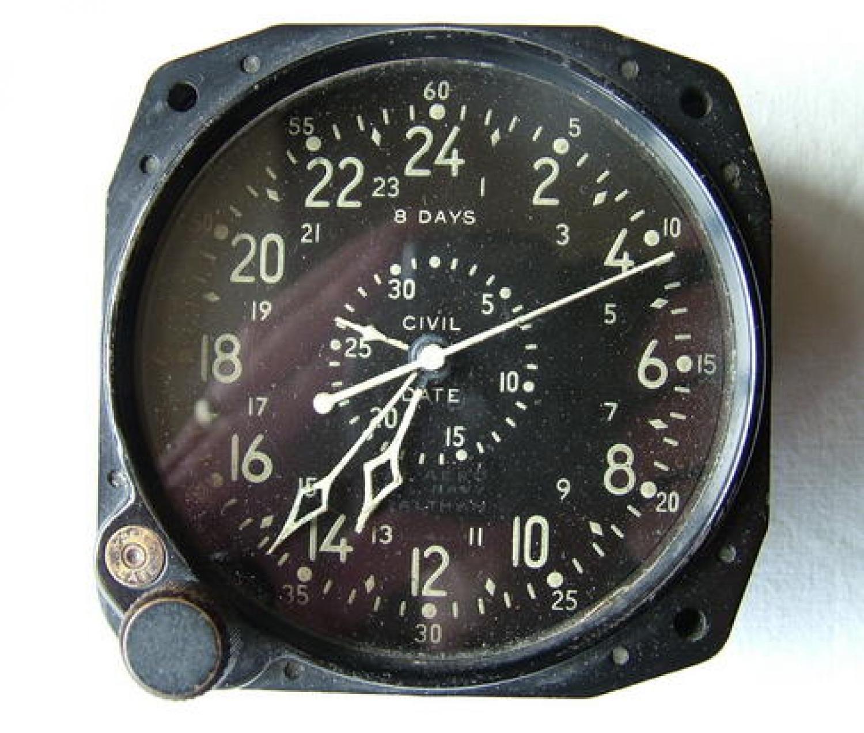 USN Civil Date Indicator Aeronautical Clock