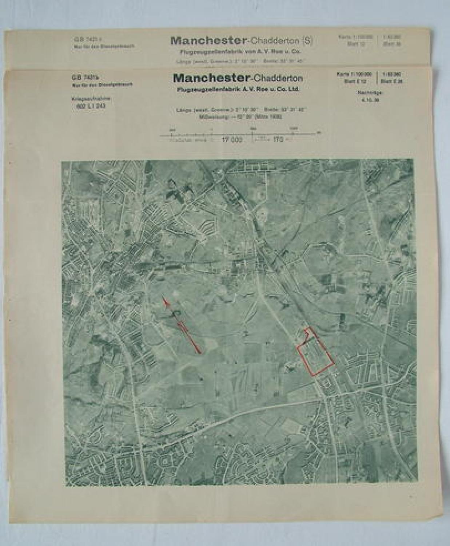 Luftwaffe Target Map/Documents - AVRO Factory