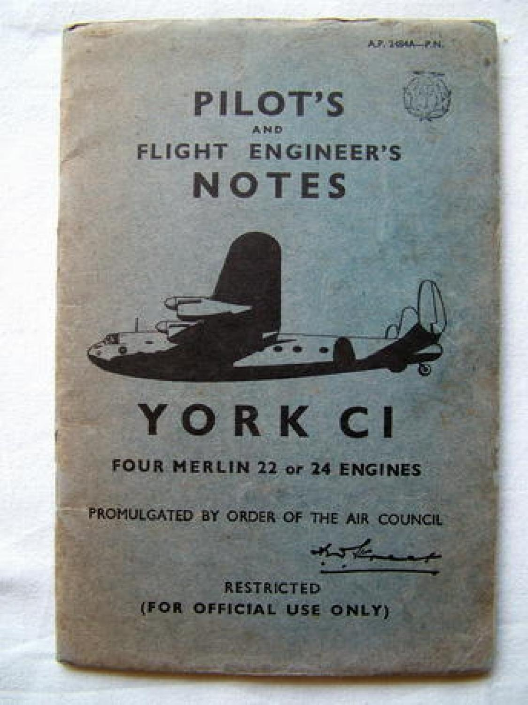 RAF Pilot's Notes - York C1