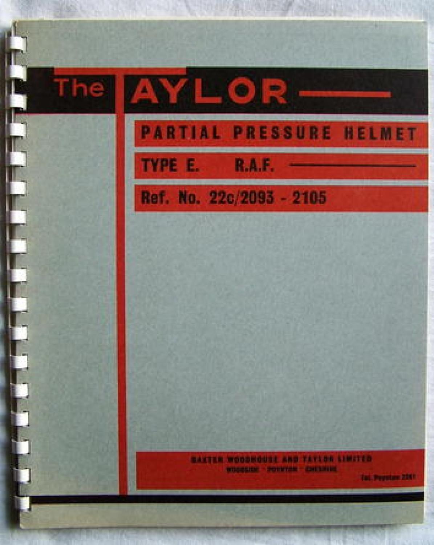 RAF Partial Pressure Helmet Manual