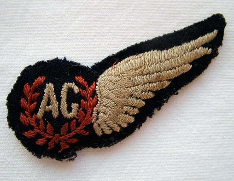 R.A.F. Air Gunner Brevet