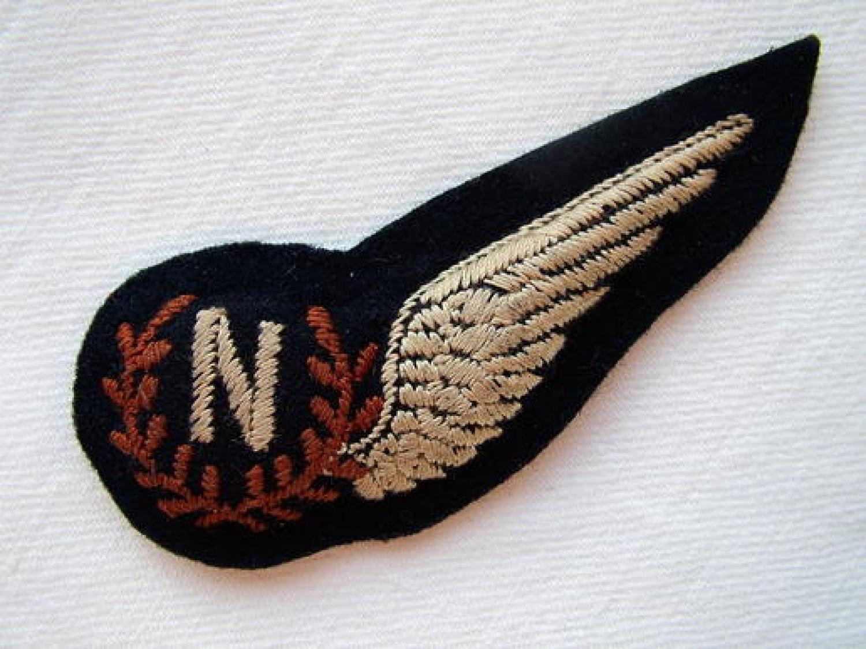 RAF Navigator Brevet - Pin Backed
