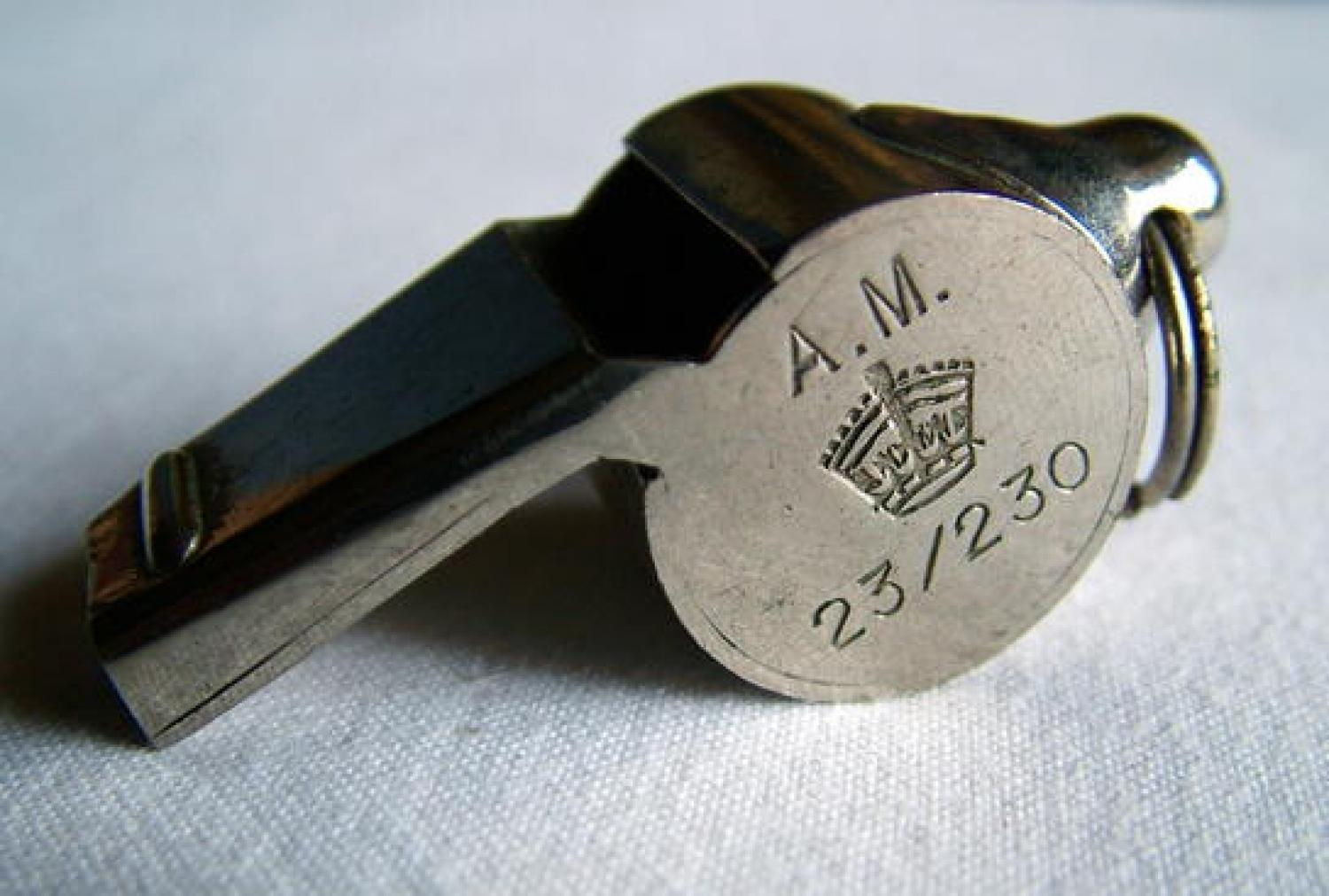 RAF/Air Ministry Mae West Whistle