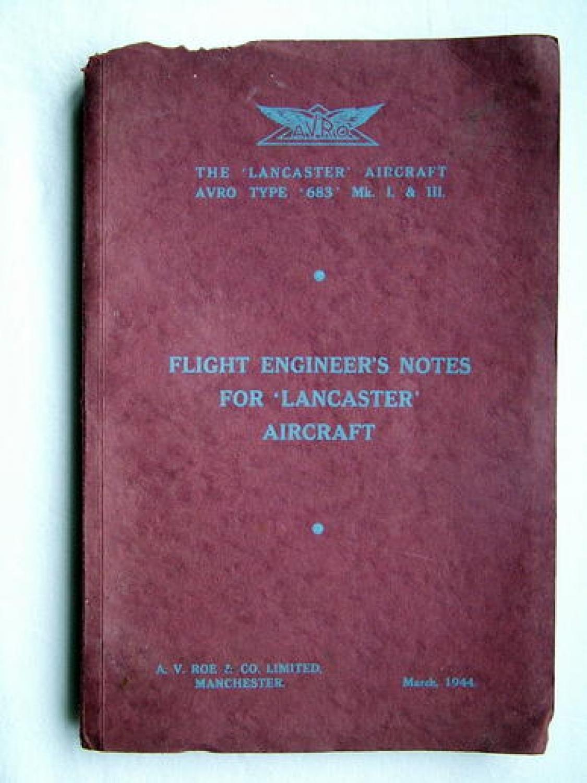 AVRO Flight Engineer Notes - The Lancaster