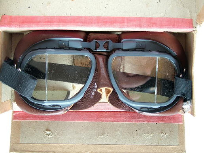RAF MK.VIII Flying Goggles - Boxed