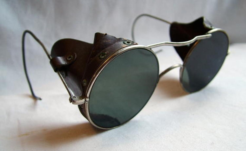 R.A.F. Anti-Glare Glasses, Cased