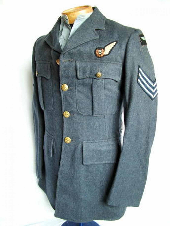 RAF Sgt. Bomb Aimer's Service Dress Tunic