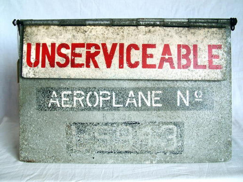 RAF Duxford Airfield Aircraft Sign