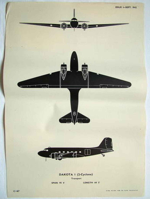 RAF Recognition Poster - Dakota 1