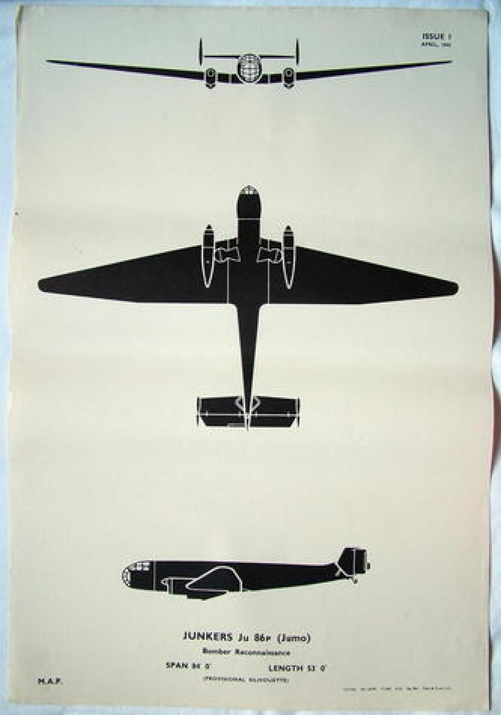 RAF Recognition Poster - Ju86P