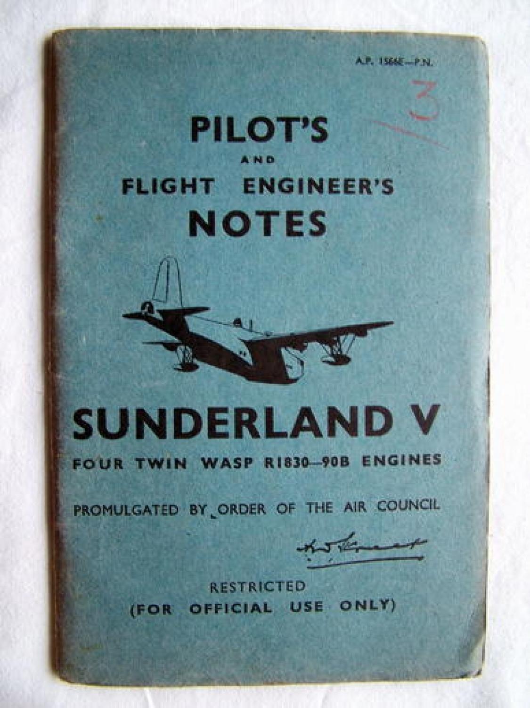 RAF Pilot's & F.E.'s Notes - Sunderland