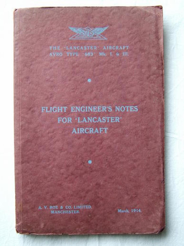 AVRO Flight Engineer Notes -  Lancaster