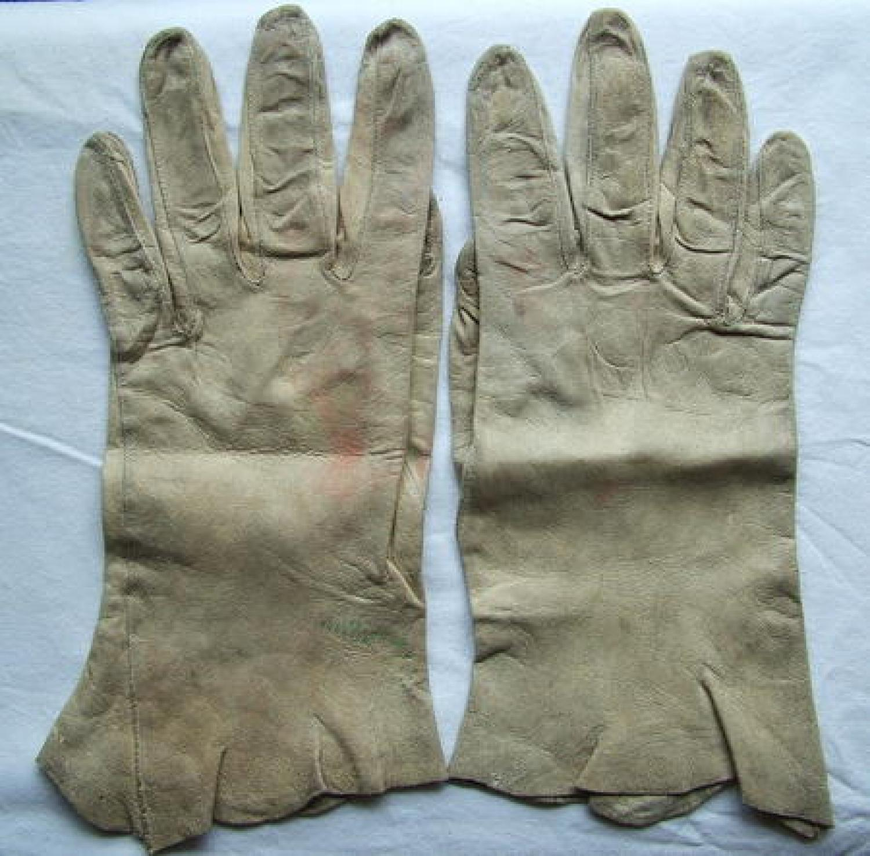 RAF Chamois Leather Flying Gloves