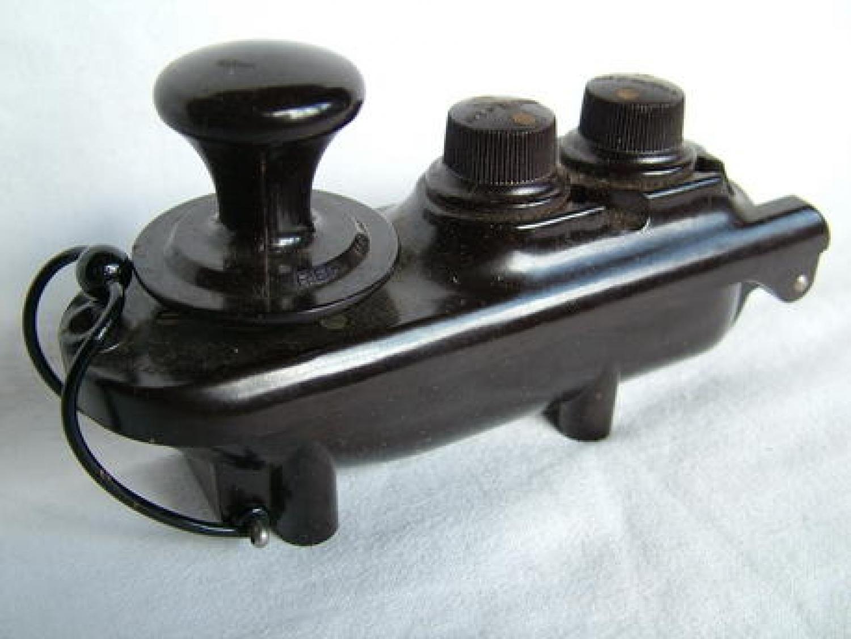 R.A.F., Type F  'Bath-Tub' Morse Key - Boxed
