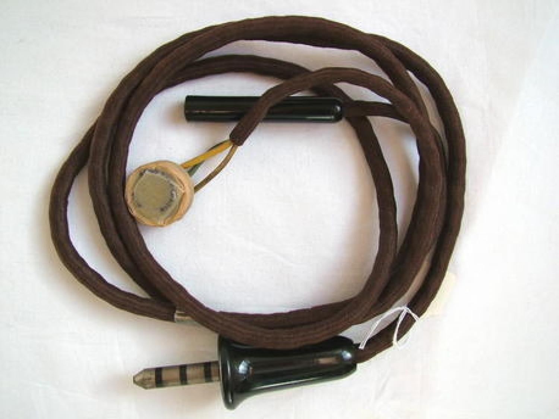 U.S.A.A.F. 8th AAF Used T-44 Microphone/Wiring Loo