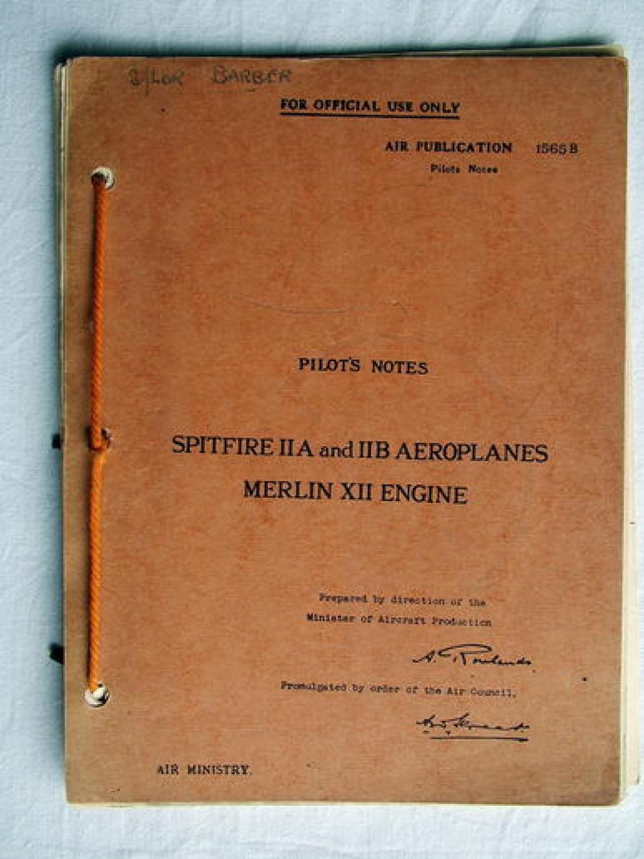 RAF Pilot's Notes - Spitfire IIA & IIB