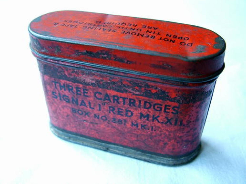 RAF Survival Dinghy Flare Cartridge Tin