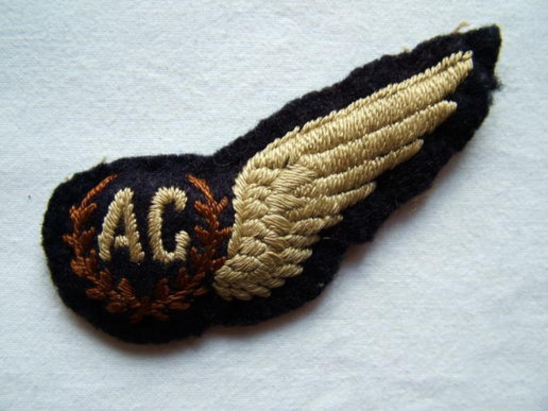R.A.F. Airgunner Brevet - Padded
