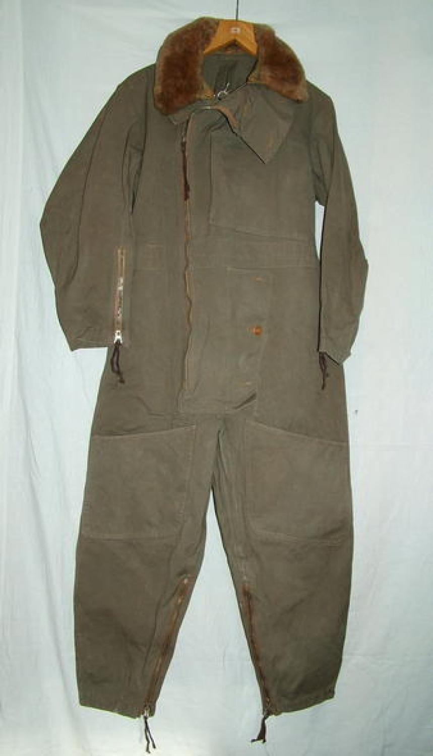 RAF 1940 Pattern Sidcot Flying Suit & Collar