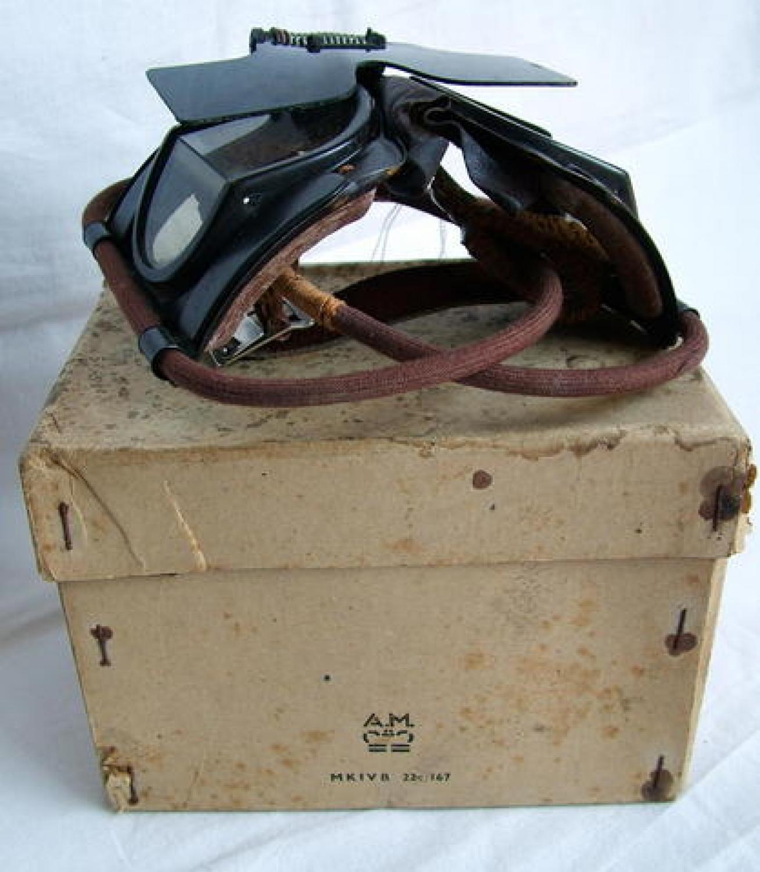 RAF MK.IVB Goggles & Flipshield, Complete