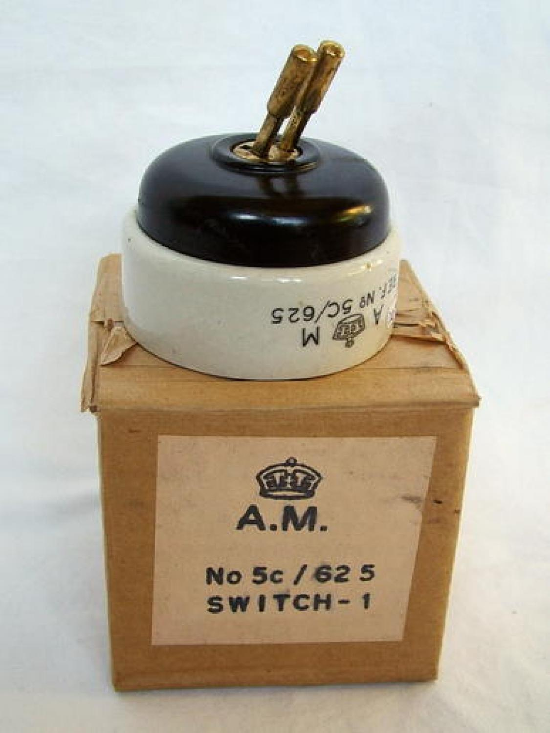 Air Ministry Aircraft Magneto Switch