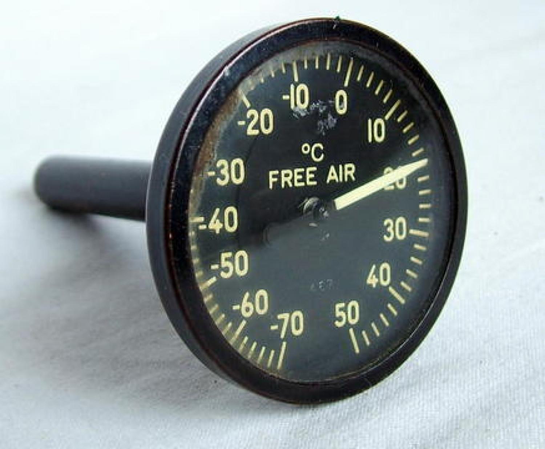 USAAF B-17 External Temperature Gauge