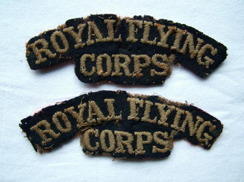 WW1 RFC Shoulder Titles
