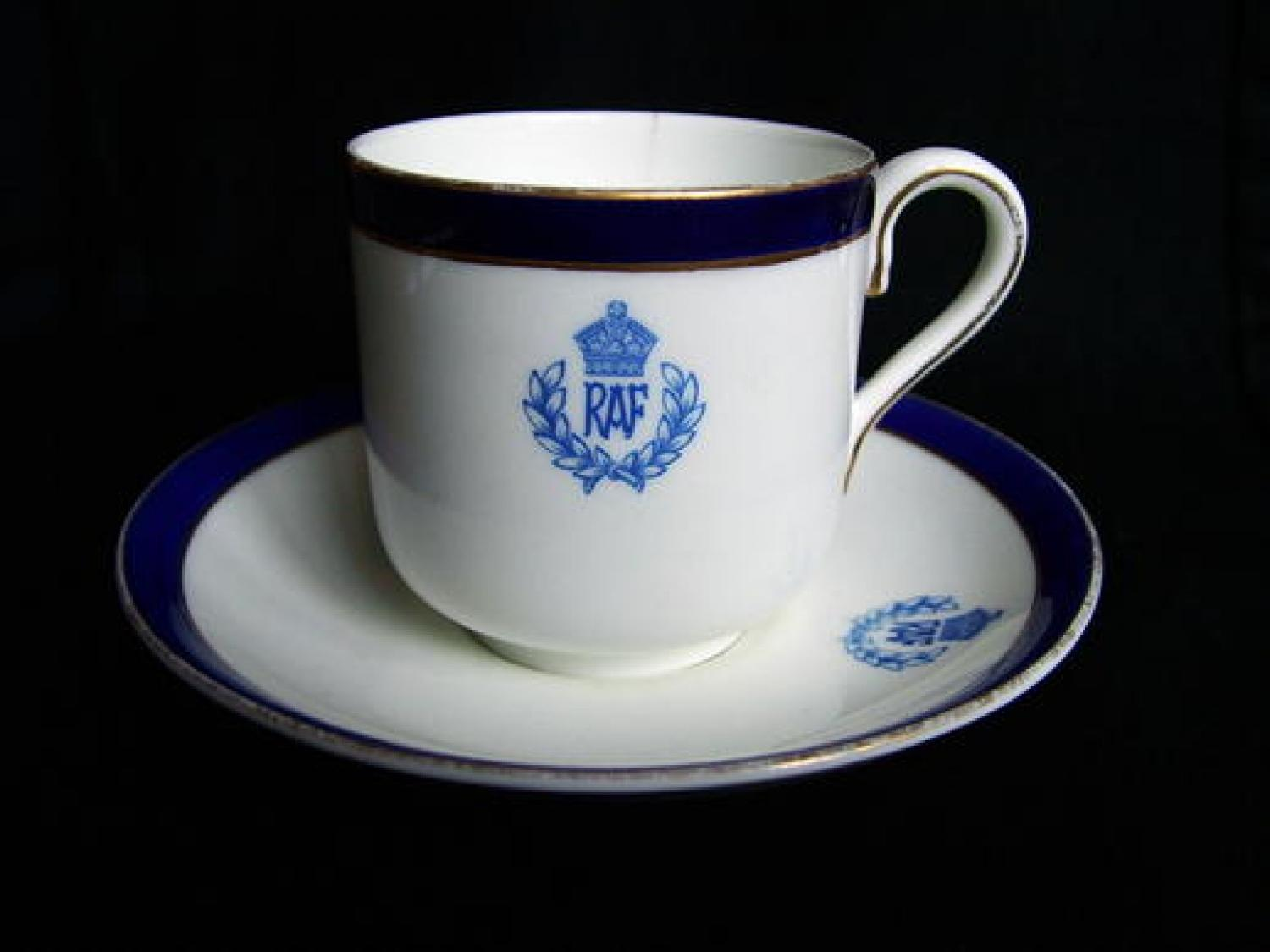 RAF Officers' Mess Coffee Cup & Saucer