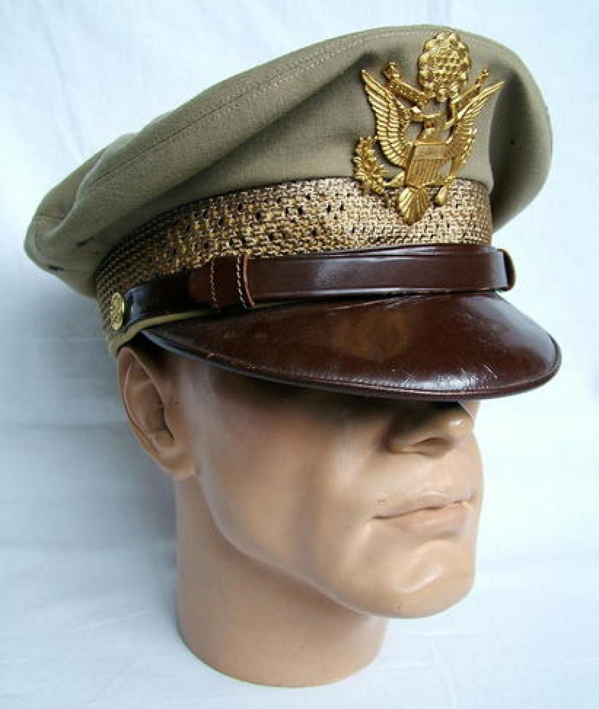 USAAF Officers Summer Visor Cap