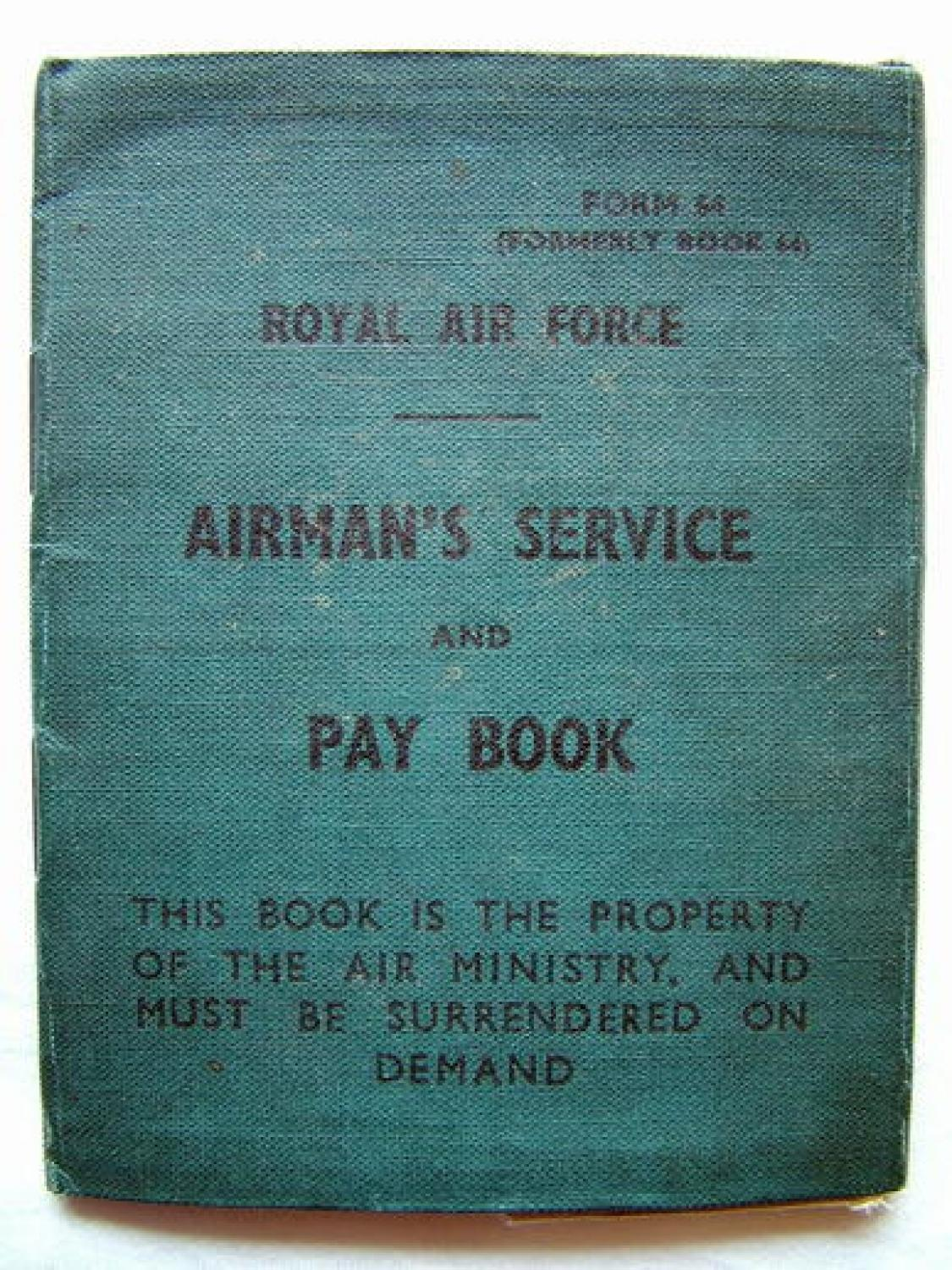 RAF Airman's Service and Pay Book