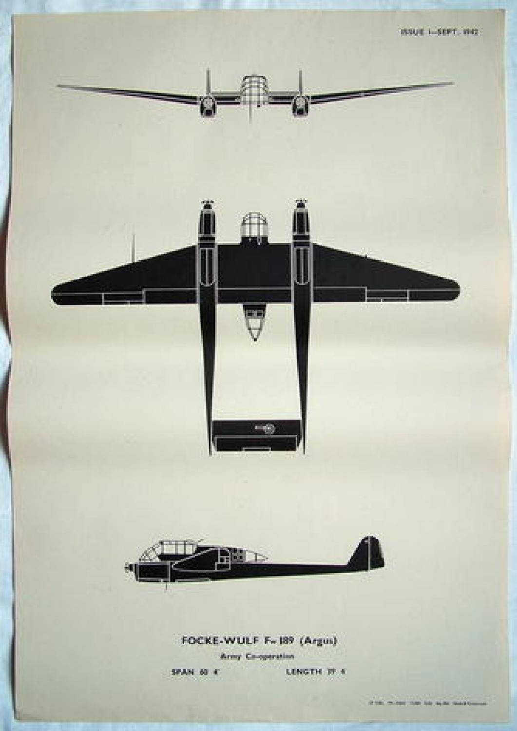 RAF Recognition Poster - Fw189