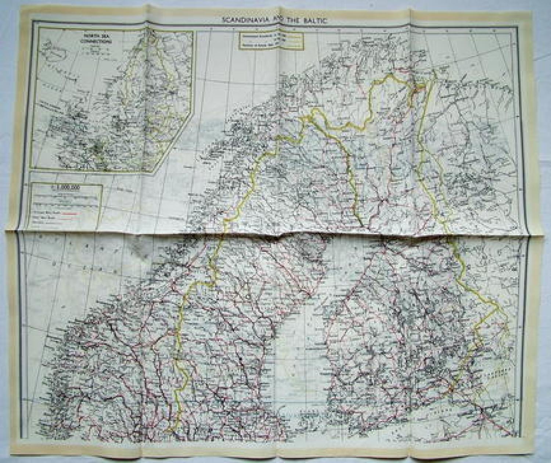 RAF Escape & Evasion Map