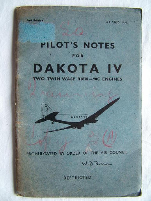 RAF Pilot's Notes : Dakota IV
