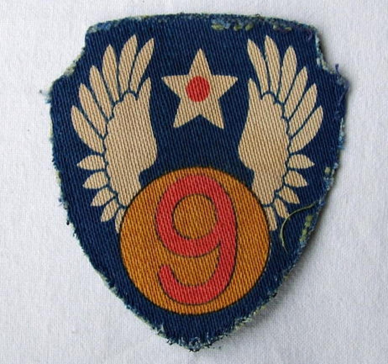 USAAF 9thAAF Shoulder Patch - Printed