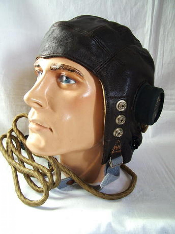 RAF C-type Flying Helmet, Late Patt.