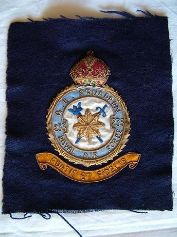 RAF 233 Squadron Patch