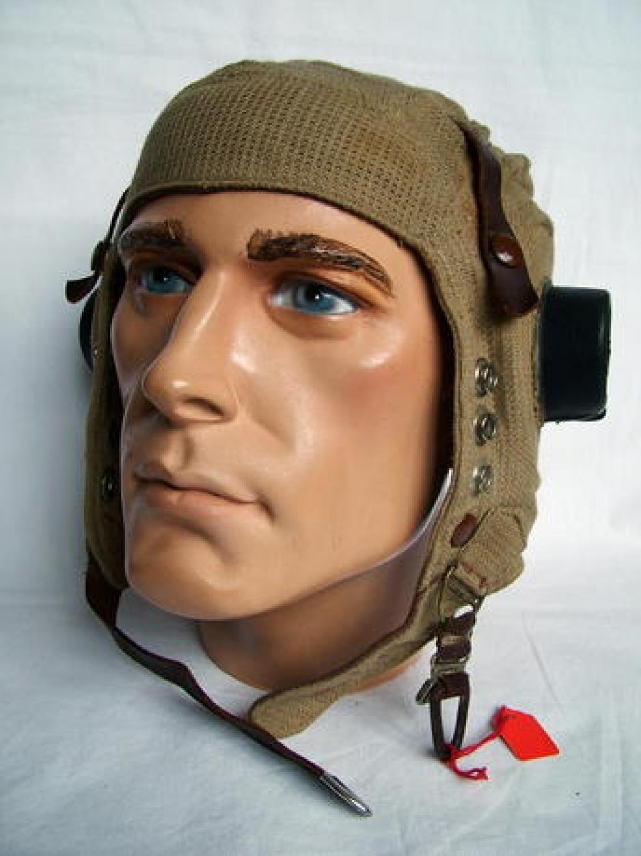 RAF E-Type Flying Helmet, Early Patt.