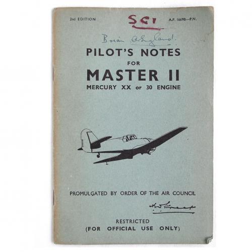 RAF Pilot's Notes : Master II
