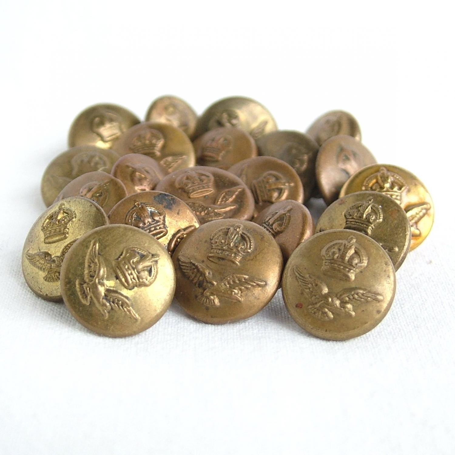 RAF King's Crown Sidecap Buttons