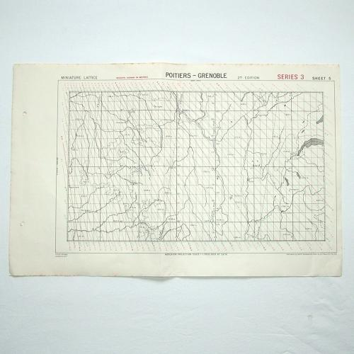RAF 'GEE' Plotting Map, 1943